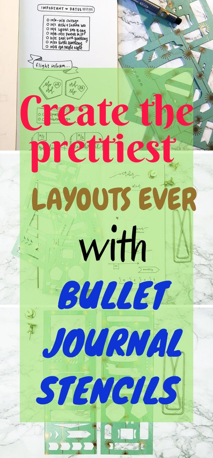 Are you a bullet journal or planner addict? Or someone new to the planner world? Pick up these stencils and start planning away! If you want to test out bullet journaling, these are the perfect stencils to get you started! Customize your layouts with a variety of shapes and designs! #bulletjournals #stencils #layouts #ad #bujo #template #organize
