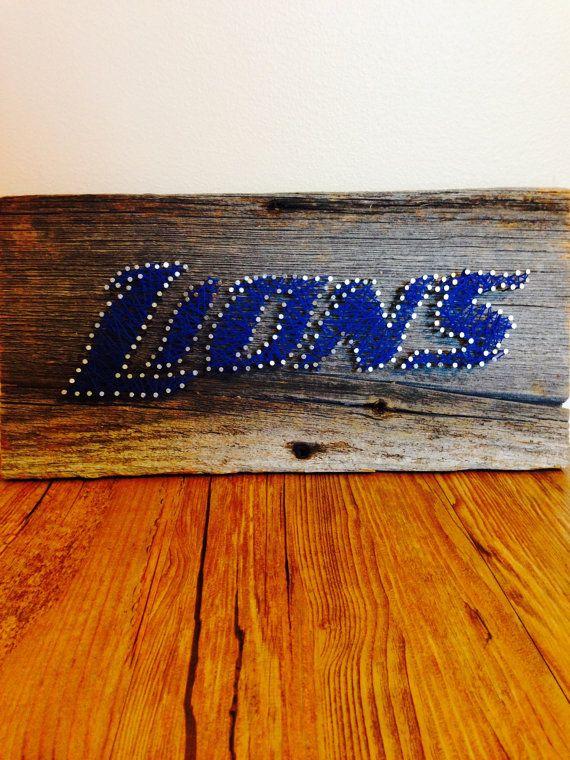 Detroit Lions String Art Rustic Decor By Northernstringart