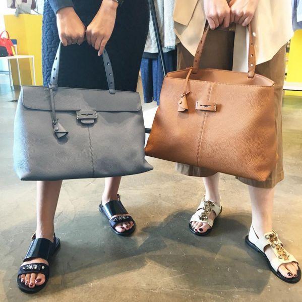 Twinning Tuesdays!  Shop @sanchitaofficial beaded sandals and @myriamschaefer Lord bags at 20% off instore @thepapilion and online kravelist.com/concierge  #kravelistxpapilionduo