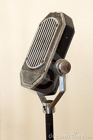 Vintage Microphone Interesting shape, looks quite solid and basic. Could imagine it in a saloon/bar.