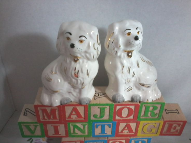 Pair of Beswick King Charles spaniels made in England numbered 1378-7 by MajorVintageShop on Etsy