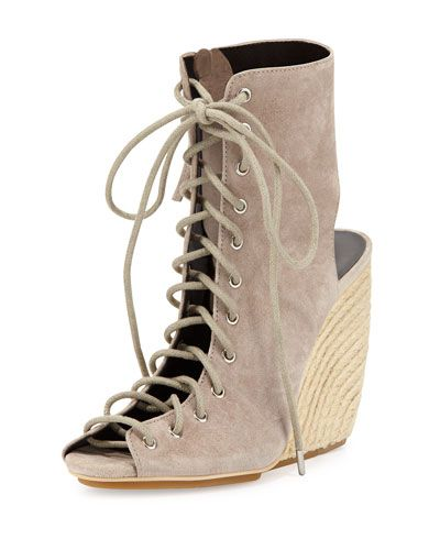 Rebecca+Minkoff+Elle+Suede+Lace+Up+Wedge+Sandals+Sand+|+Shoes+and+Footwear