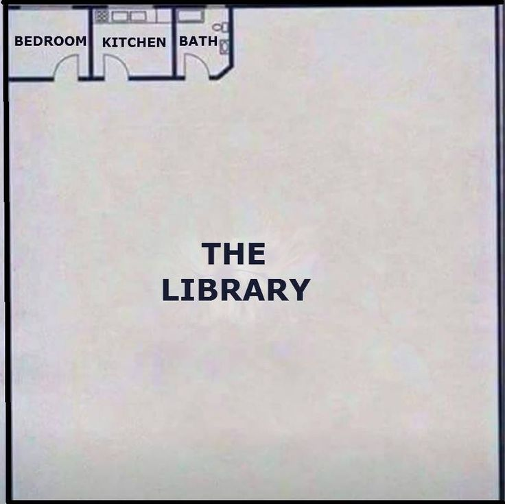 Pretty much every house blueprint I've come up with, except mine had multi-storey libraries lol