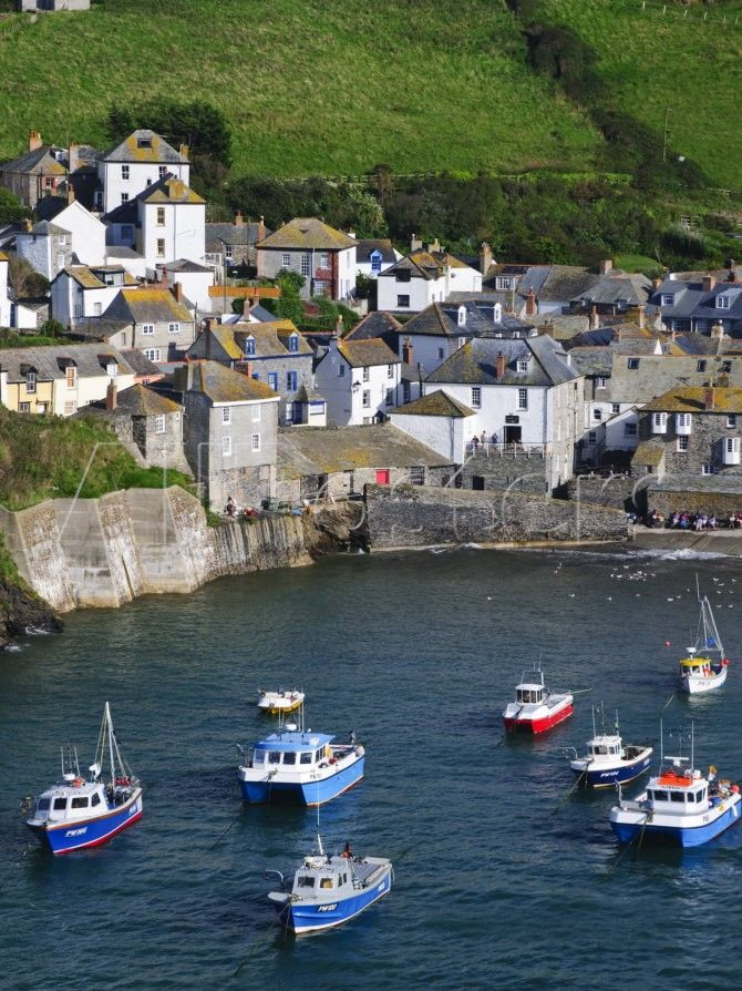England, Cornwall, Port Isaac, UK - where Dr. Martin is filmed!!!!