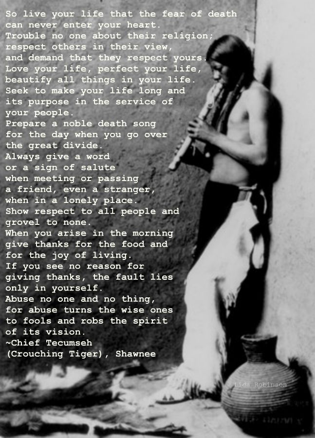 The Chief Tecumseh poem that Maynard read on the Joe Rogan Experience