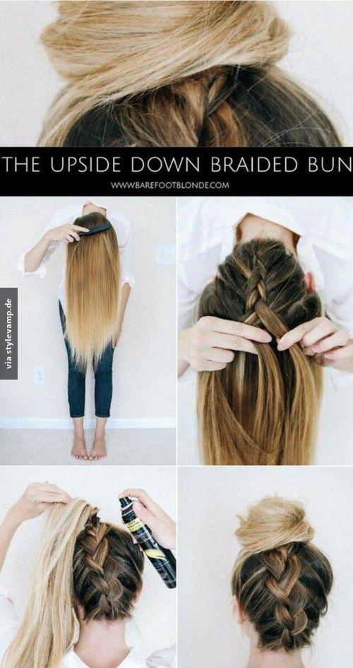 Upside Down Braided Bun <3