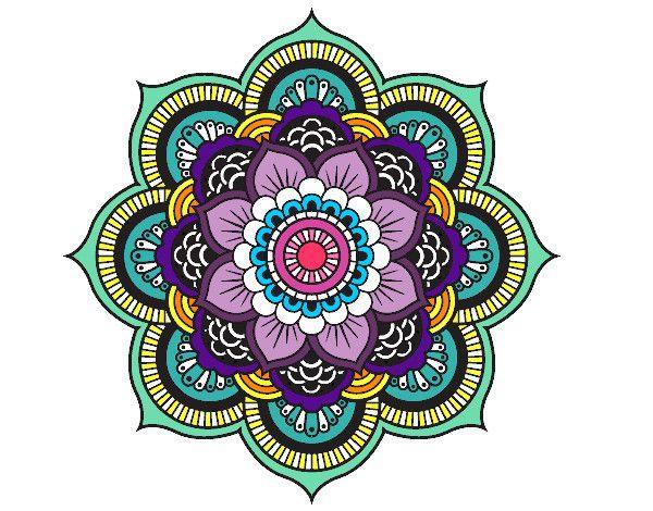 Desenho Mandala flor oriental pintado por tomasines