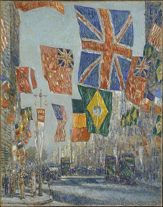 Childe Hassam (American, 1859–1935) Avenue of the Allies, Great Britain, 1918. The Metropolitan Museum of Art, New York. Bequest of Miss Adelaide Milton de Groot (1876–1967), 1967 (67.187.127) #Olympics #London2012