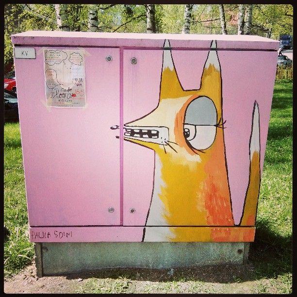 #Arabiankatufestivaalit #katutaidetta #streetart #helsinki #kettu #fox