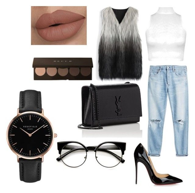 """""""I love this outfit 😍😍"""" by adine233 on Polyvore featuring Christian Louboutin, WearAll, Chicwish, Yves Saint Laurent and Topshop"""