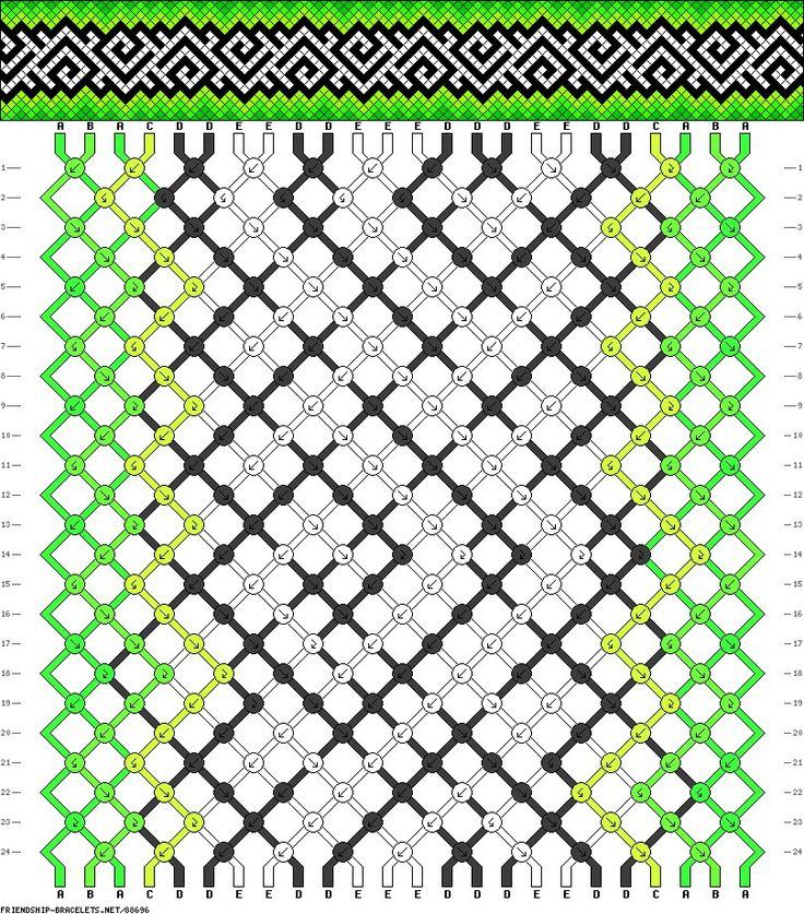 Фенечки из мулине прямое плетение в картинках