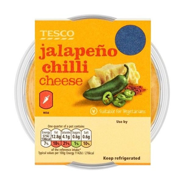 Tesco Jalapeno Chilli Cheese Dip 200G ❤ liked on Polyvore featuring home, kitchen & dining and serveware