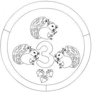 3 numaralı mandala boyama