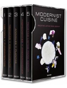 Algunos han llegado a llamarlo la Biblia de la cocina moderna. 5 volúmenes que tocan absolutamente todos los temas, desde preparaciones, nuevos ingredientes e incluso maquinaria a la última. El precio es realmente alto, pero de verdad os digo que si tenéis oportunidad, merece la pena y mucho.