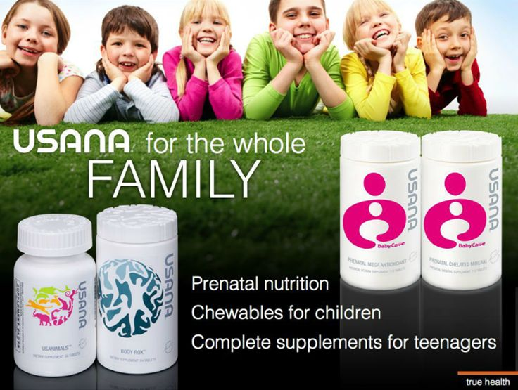 From Prenatals to Teens ~ your family is covered please check my website www.janetony.Usana.com to buy