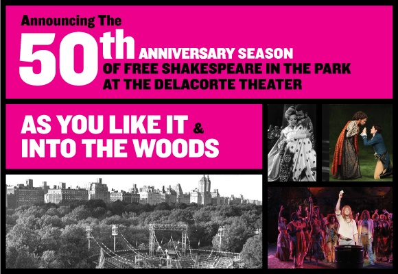 Into the Woods, playing July 23 - Aug 25.  Get tickets day of performance 1pm or online.  Shows are at 8pm.  Delacorte Theatre.