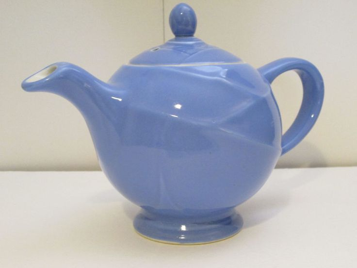 Vintage Hall Pottery Periwinkle Blue Teapot  #Hall