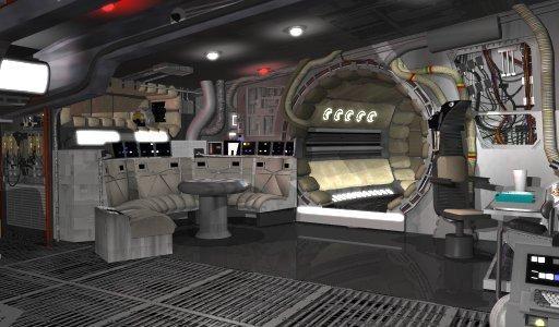 Millenium falcon interior images google search star for Interior halcon milenario