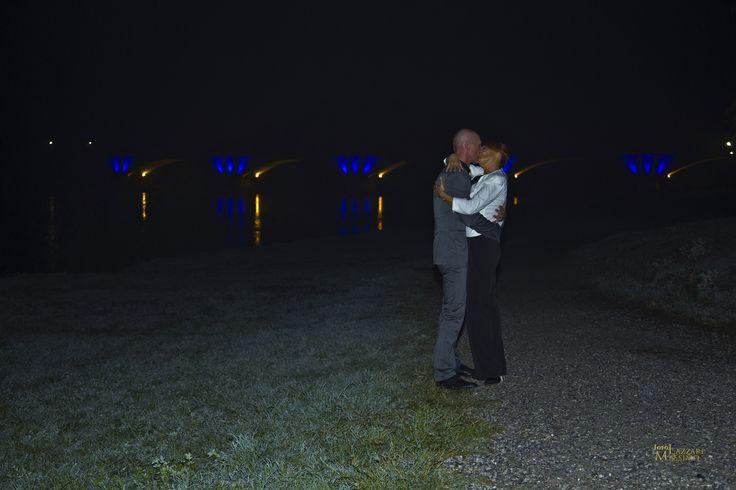 foto di matrimonio Pavia - Ponte dell'Impero, Pavia - Foto notturna. Foto Massimo Lazzari srls - S.Martino Siccomario PV