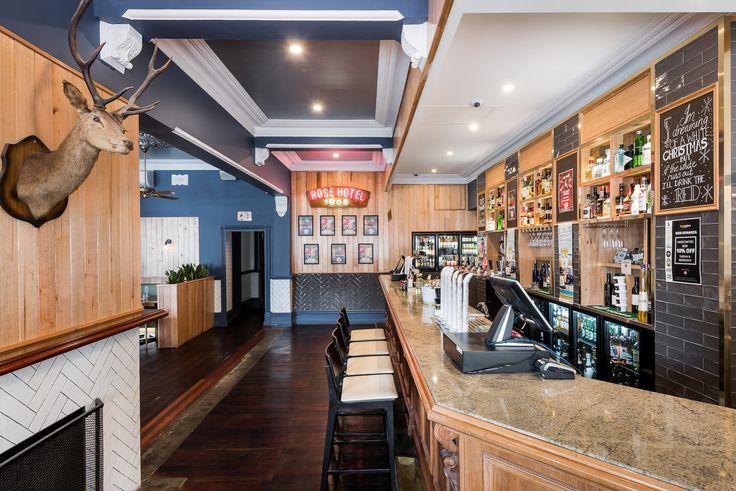 Hospitality Design by Benson Studio. Bar design at the Historic Rose Hotel in Western Australia