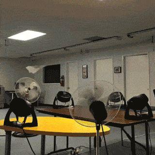 Perfect paper airplane setup