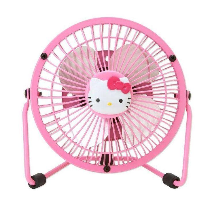 Hello Kitty Fan : Hello kitty mini electric fan sanrio from japan minis