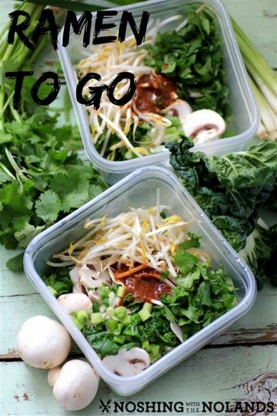Simple meal to take along for lunch -- Ramen To Go! Perfect for busy people.