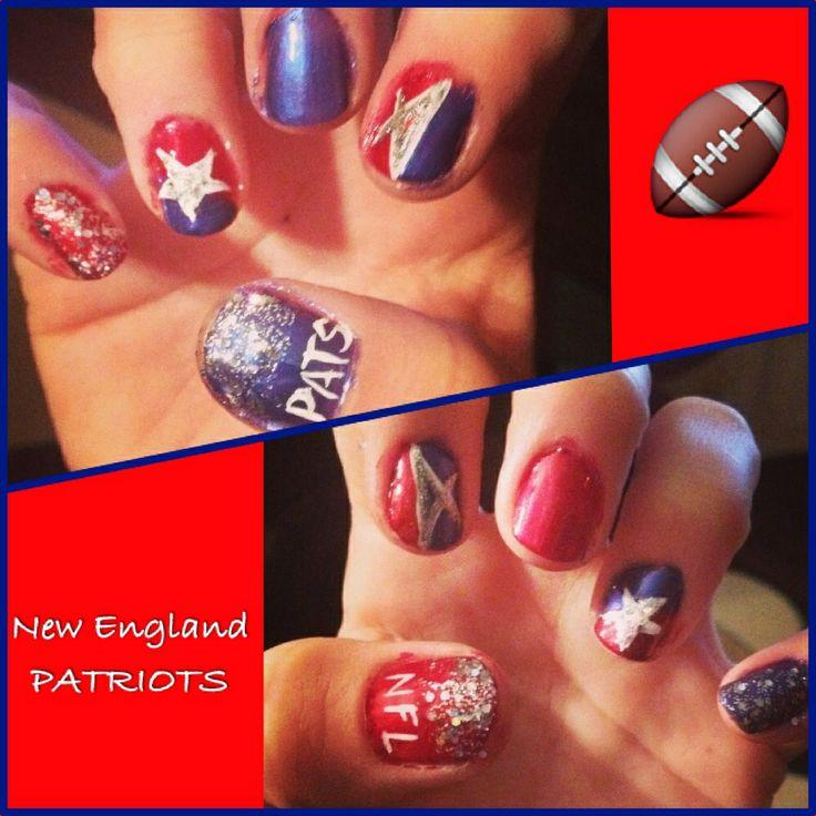 Enchanting New England Patriots Nail Designs Gallery - Nail Art ...