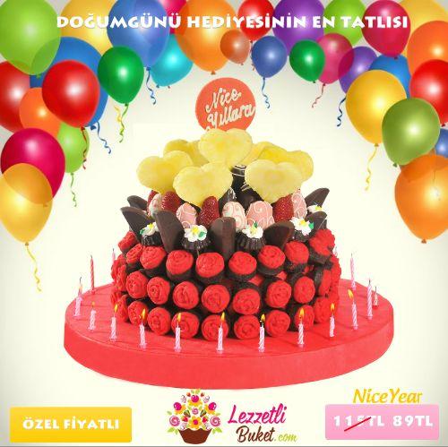 Doğum günü sürprizleri için en uygun hediye http://www.lezzetlibuket.com/karisik-lezzet-cicegi-niceyear Haftanın indiriminden yararlanın!