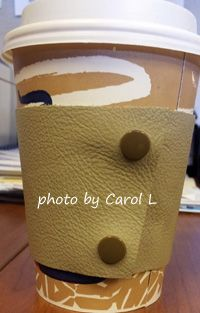 Cozy for hot/cold beverages. Snaps & tools available at www.KAMsnaps.com.