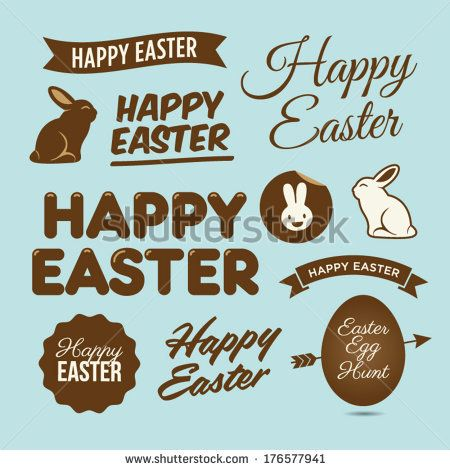 Happy easter design elements, badges and labels  #Easter Inspiration from Shutterstock http://www.webdesign.org/easter-inspiration-from-shutterstock.22414.html