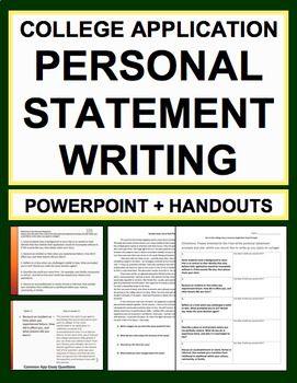 Personal Statement College Writing Guide: NO PREP college application prep, memoir writing or creative nonfiction writing #personalstatementideas