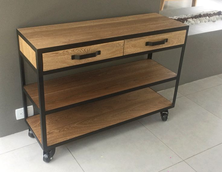 Auxiliary furniture. #furniture #wood #steel #design #mueble #auxiliar #madera #acero #diseño #auxiliary