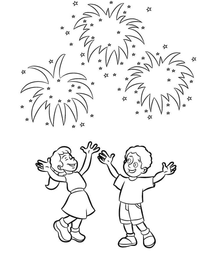 Fireworks Colouring Page 2 Firework Colors New Year Coloring Pages Fireworks Craft For Kids