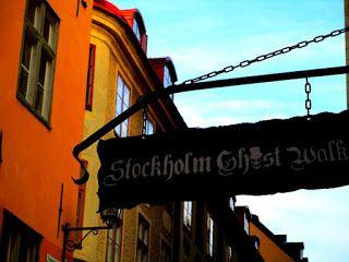 Street Art of North: Klotter. Graffiti, Street art is vandalizing, destroying in Stockholm Old Town