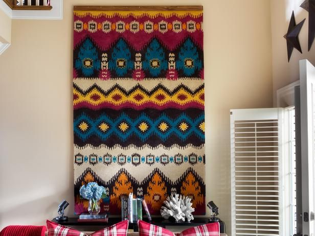 How to Turn a Rug Into a Wall Art Tapestry : Decorating : Home & Garden Television