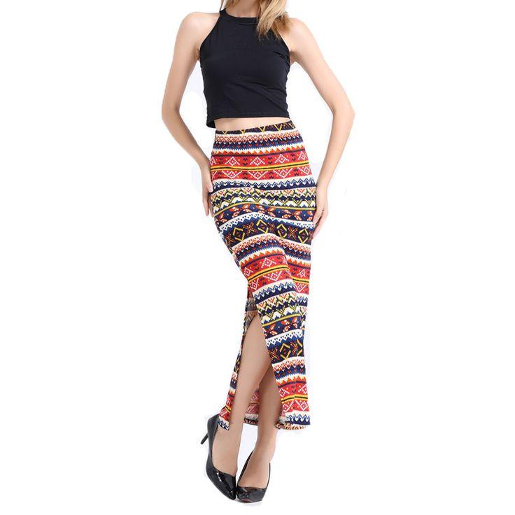 Купить товарНовое женская длинная юбка с разрезами ацтеков волны печать старинные высокой талией мода карандаш макси длинные юбки 2016 в категории Юбкина AliExpress.                             Добро пожаловать в наш романтический пляж магазине!                                      &nb