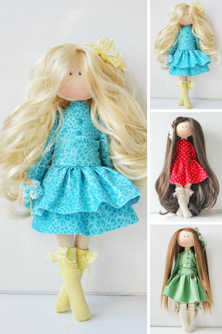 This is handmade textile doll created by Master Olesya N. (Russia).  All dolls stated on the photo are mady by artist Olesya N. You can find them in our shop searching by artist name.