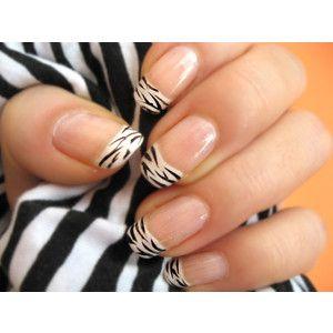 zebra manicure! Nails