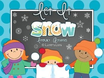 Let It Snow: Literacy Activity Pack...adjectives, types of sentences, reading comprehension, sight words...FREEBIE included in preview file!