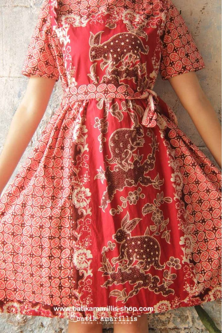 batik amarillis's innocencia dress