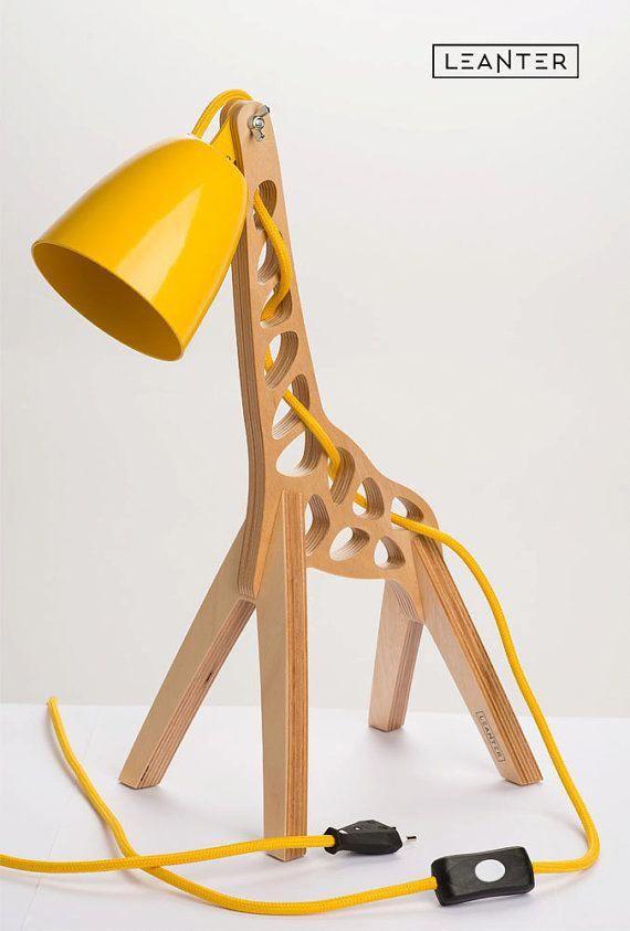 Design Table Lamp Giffy 177 By Leanter On Etsy Uniquelamps Giraffe Lamp Desk Lamp Kids Desk Lamp