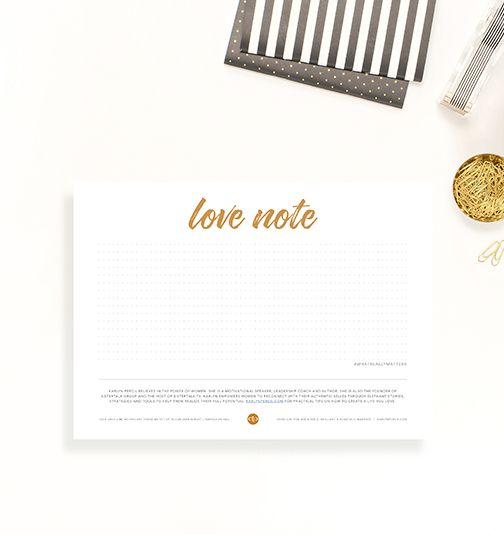 Love Note – product page