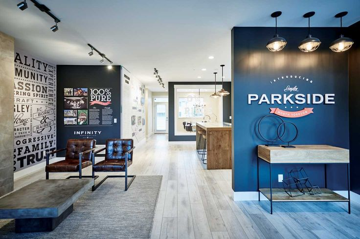 Parkside by Infinity Properties #graphicdesign #vancouver #branding #environment #realestate #brandidentity #salescentre #typography