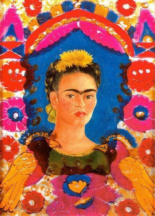 """""""selbstporträt 2"""" von Frida Kahlo (1907-1954, Mexico)"""