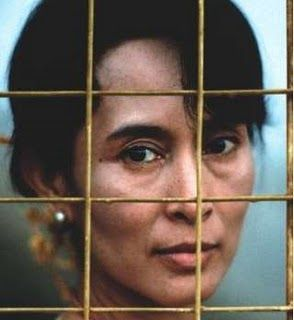 Aung San Suu Kyi.  Democracy leader, Nobel Peace Prize winner.