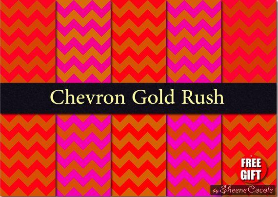 50%OFF Red Pink Gold Chevron paper digital fabric print Scrapbook Printable Invitation Background metallic gold chevron paper gold and pink #etsy  #gifts