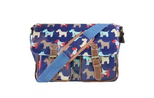 Miss Lulu Vintage Style Satchel Bag - Dog Style