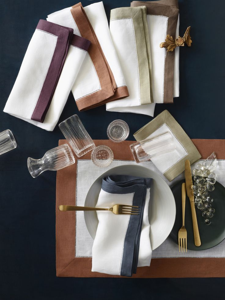 Our popular Filetto table linens have expanded to include the rich, delightful colors of Autumn.