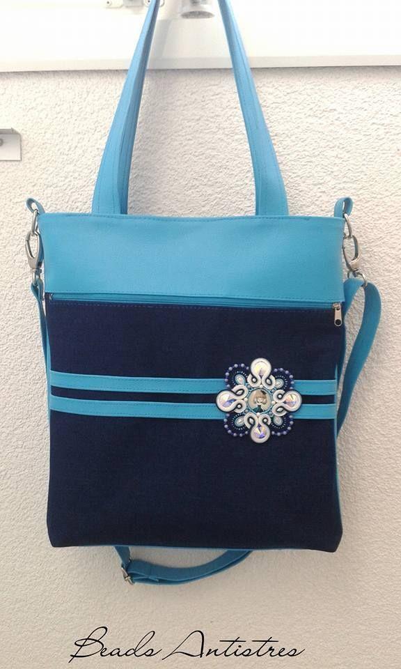 Handmade handbag with soutache 8/2017